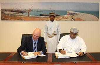 Signing Construction Agreement for Liquid Bulk Berth Project in Duqm Port