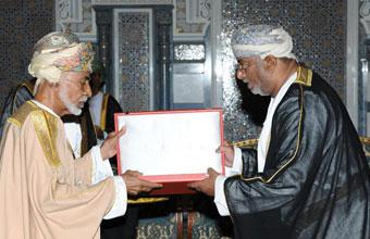 جلالة السلطان يمنح رئيس مجلس إدارة الهيئة وسام عمان المدني من الدرجة الثانية