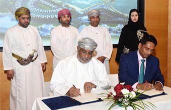 التوقيع على اتفاقية حق انتفاع وتطوير لمجمع سياحي متكامل بالدقم
